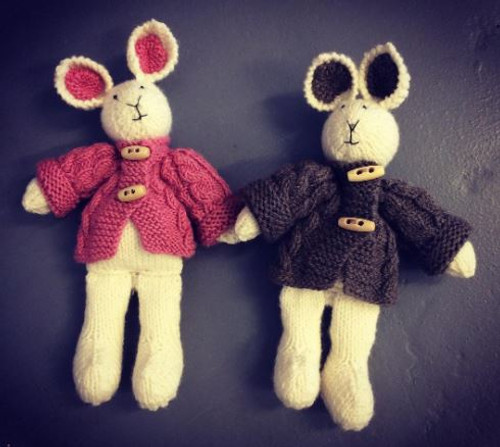 Handcrafted Knitted Bunny