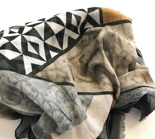Geometric Antiquities Scarf