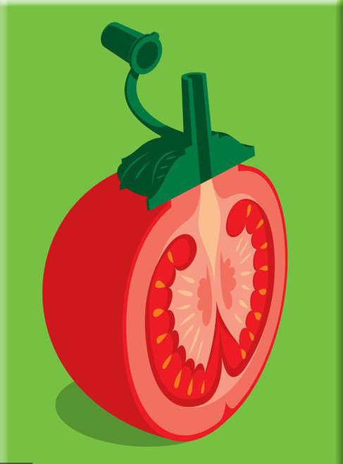 Chopped Tomato Fridge Magnet