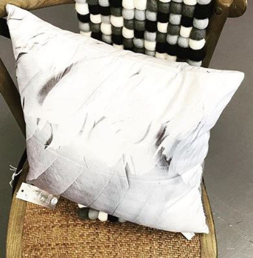 Kotuku Feathers Cushion 45 x 45