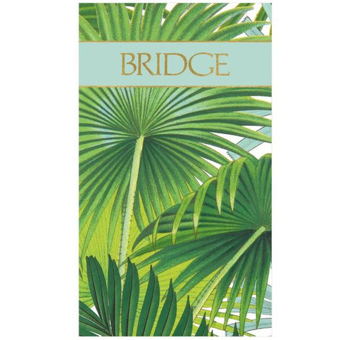 Bridge Score Pad Palm Fronds