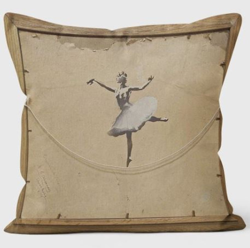 Banksy Ballerina Cushion