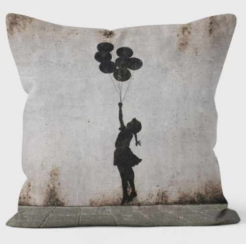 Banksy Loads of Balloons Cushion