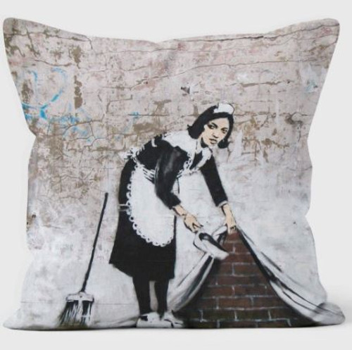 Banksy Maid Cushion