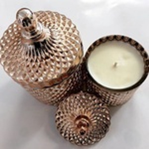 Scented Soy Candle - Rose Gold - French Pear