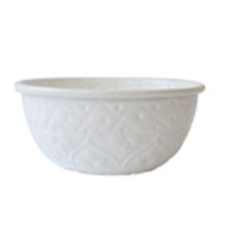 White Metal Bowl
