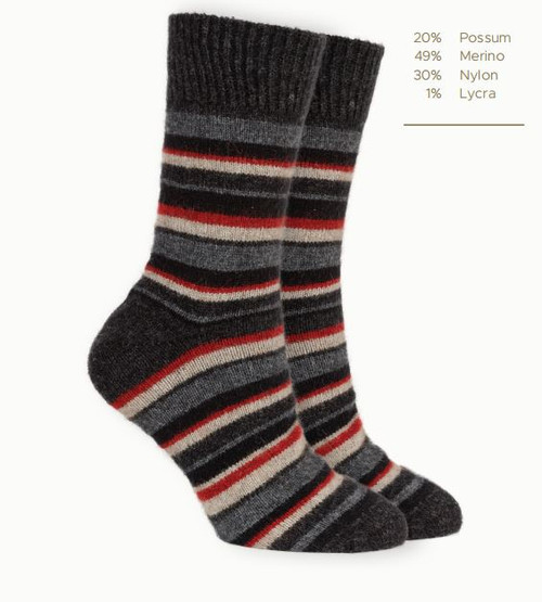 Striped Merino Socks