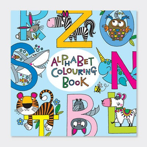 Alphabet Colouring Book. A Rachel Ellen designed book for children to colour in and learn the alphabet.