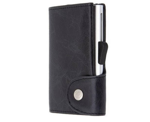 c-secure Leather & Aluminium Wallet with smart design to keep your cards and bills in an optimised space.The RFID blocker avoids undesirable RFID scanners and being thin and light means this wallet is very easy to carry.