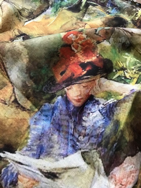 Artists Corner 'Lady Reading' Scarf.