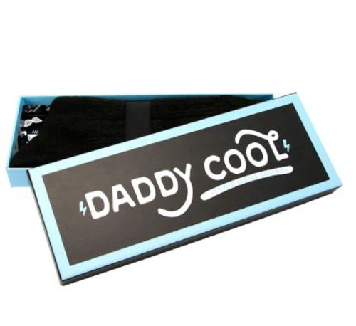 Daddy Cool socks. A little luxury and style. Each box contains a pair of soft men's socks in a fun gift box.