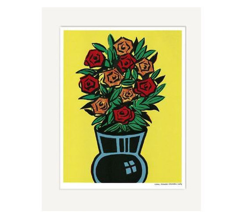 Dick Frizzell Comic Flowers Print
