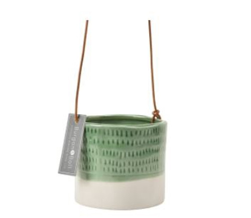 Green Ceramic Hanging Pot