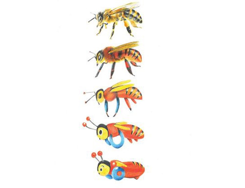 Beevolution Print A4 'Beevolution' is the 'Mickey to Tiki' inspired transformation of the iconic New Zealand made Buzzy Bee toy, which has spanned generations, created by Wanaka artist Melissa Sharplin. This print lights up the faces of Kiwis of all ages, and has found its place in homes across the nation for it's nostalgic yet contemporary graphic style.