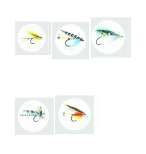 Fishing Fly Prints - 21 x 21cm Fishing Fly prints created by Wanaka artist Melissa Sharplin celebrate the beauty and work that goes into creating these flies.  Please let us know which of the designs you would like.