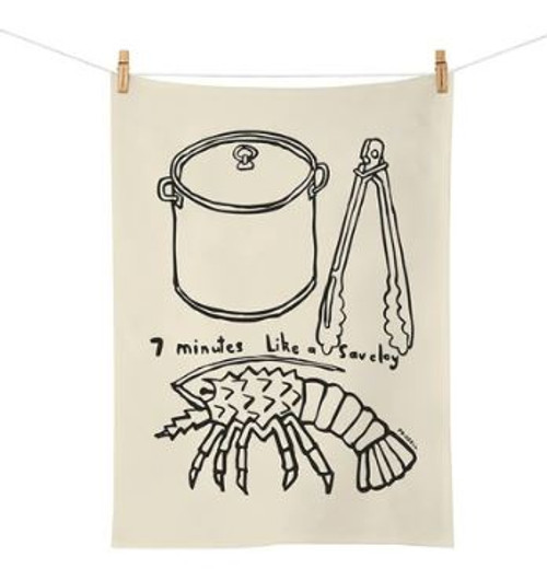Dick Frizzell 7 Minutes Tea Towel