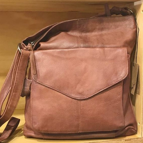 Emily Leather Handbag - Tan