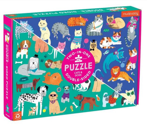 Cats & Dogs 100 Piece Double Puzzle