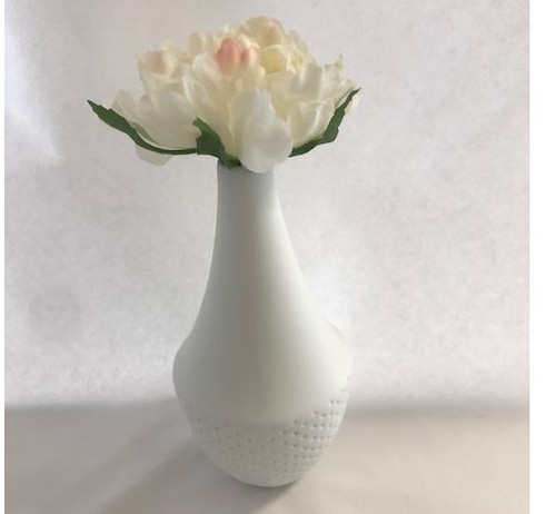 Dots White Mini Vase