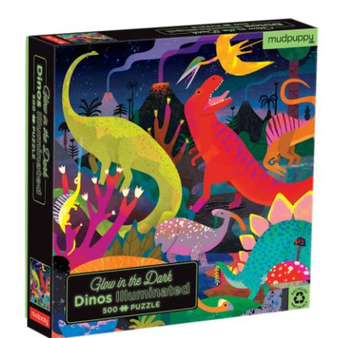 Dinosaurs Glow in the Dark Puzzle - 500 Pieces