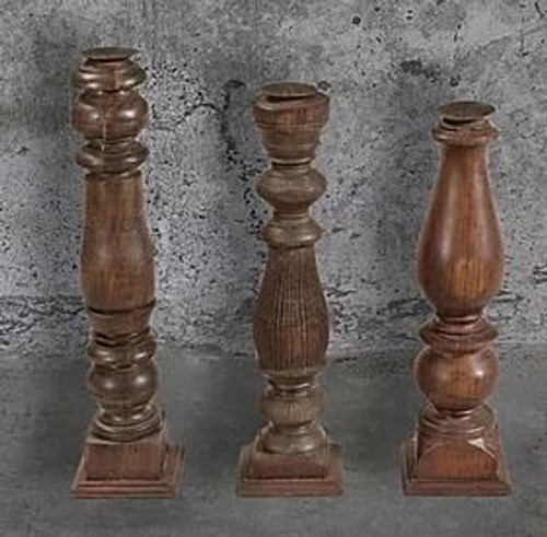 Coloured Wooden Candle Stick Holders