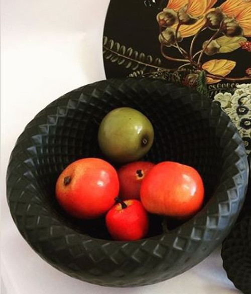 Lattice Bowl Black
