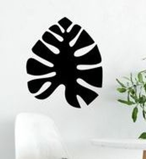 Black Monstera Wall Hanging - 40 x 46cm
