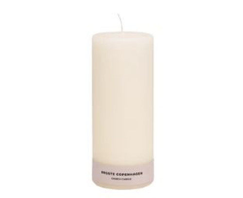 Candle Church Antique White 8cm x 25cm