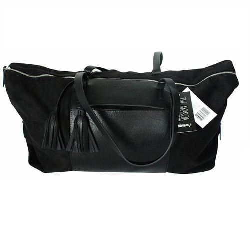 Black Akaroa Overnight Bag