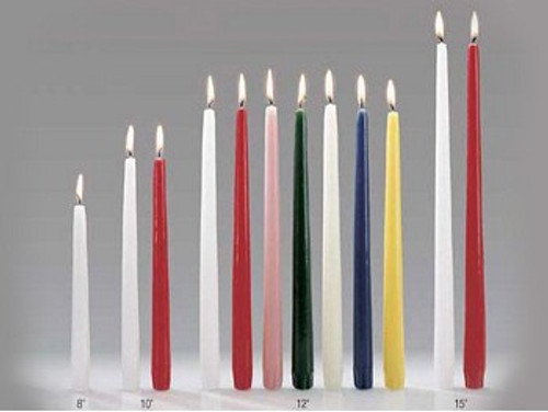 Candle 9x260mm taper - Turquoise