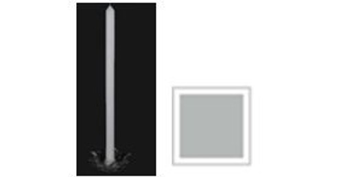 Household Candle 330mm - Silver