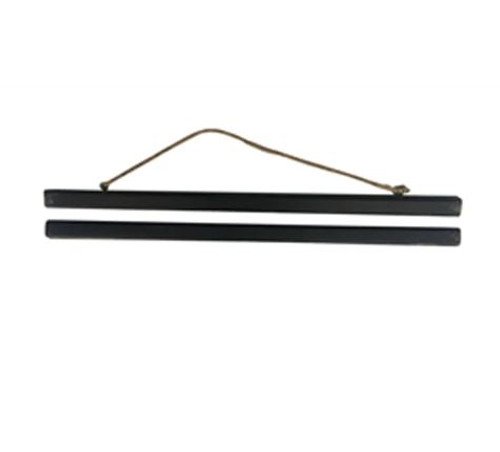 Poster Hanger Set of 2 Rustic scuffed black or natural wood magnetic 2 piece Wooden Poster Hanger 55CM.  Such a brilliant idea.  Great for posters, to display tea towels, to hang educational posters for kids.  Then if you want to look at something new you can just replace it!