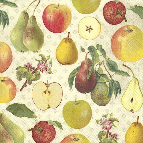 Apple & Pear Luncheon Napkins