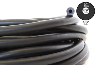 Rubber, 3-Prong HD Rubber (11 mm) - Black, sold per foot