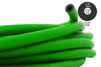 Rubber, 3-Prong HD Rubber (11 mm) - Green, sold per foot