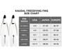 Kaudal Fins, Complete Pair, White/White w/ Black
