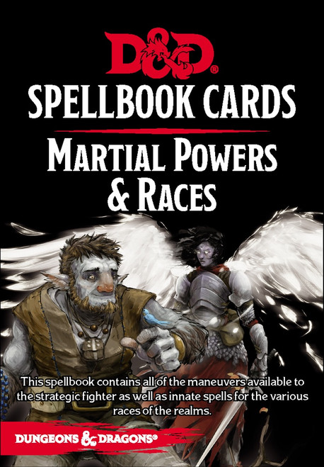 Spellbook Cards Martial Powers & Races - Cerberus Games