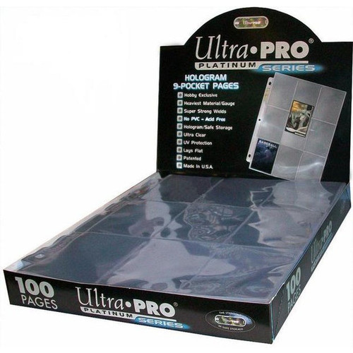 Ultrapro 9 Pocket Page - Box of 100 Pages - Cerberus Games