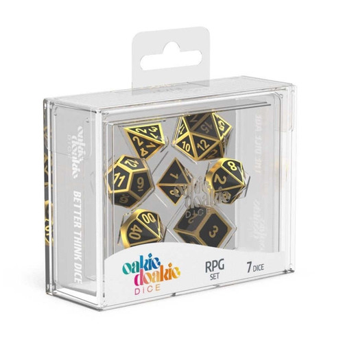 Oakie Doakie Dice Metal RPG Set - Cerberus Games