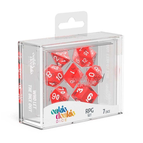 Oakie Doakie Dice Translucent RPG Set - Cerberus Games