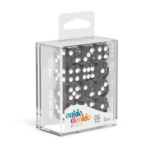 Oakie Doakie Dice D6 16mm Speckled Set (12ct) - Cerberus Games