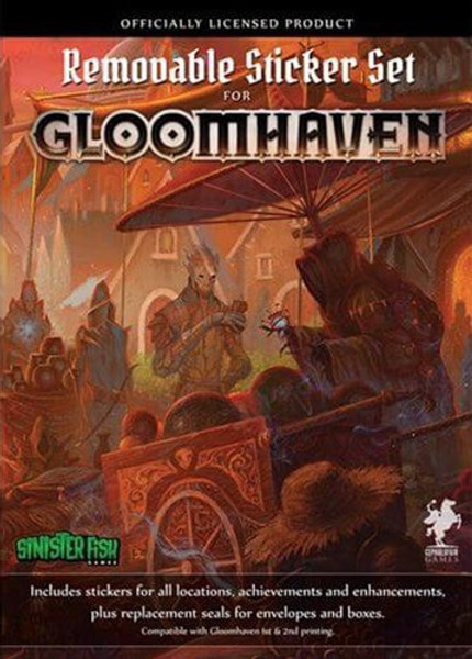 Gloomhaven Removable Sticker Set - Cerberus Games