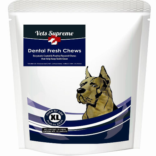 Vets Supreme Dental Fresh Chews Extra Large Dogs >50lbs 30ct