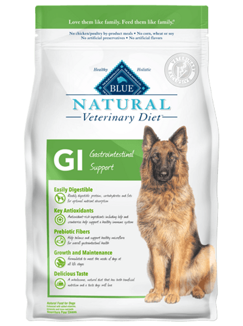 Blue Natural Veterinary Diet Canine GI Gastrointestinal Support -  6lbs