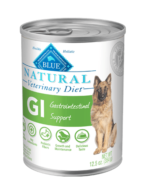 Blue Natural Veterinary Diet Canine GI Gastrointestinal Support - 12/12.5oz