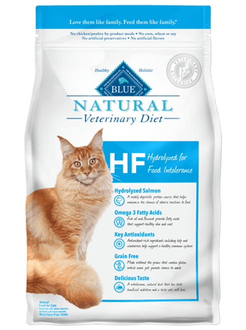 Blue Natural Veterinary Diet Feline HF Hydrolyzed for Food Intolerance - 7lbs