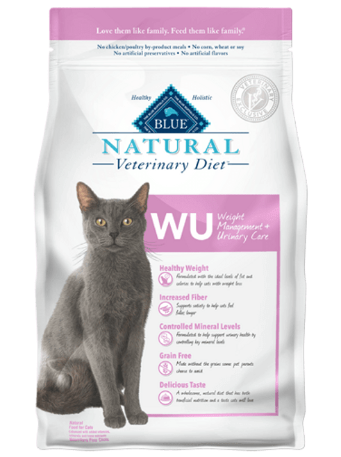 Blue Natural Veterinary Diet Feline WU Weight Management + Urinary Care - 6.5lbs