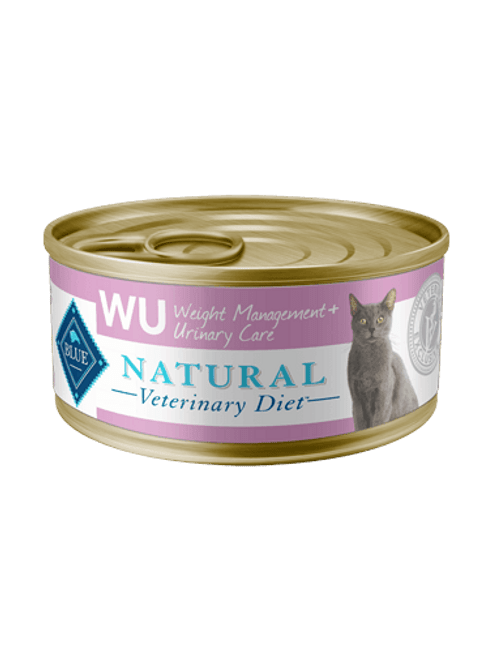 Blue Natural Veterinary Diet Feline WU Weight Management + Urinary Care - 24/5.5oz