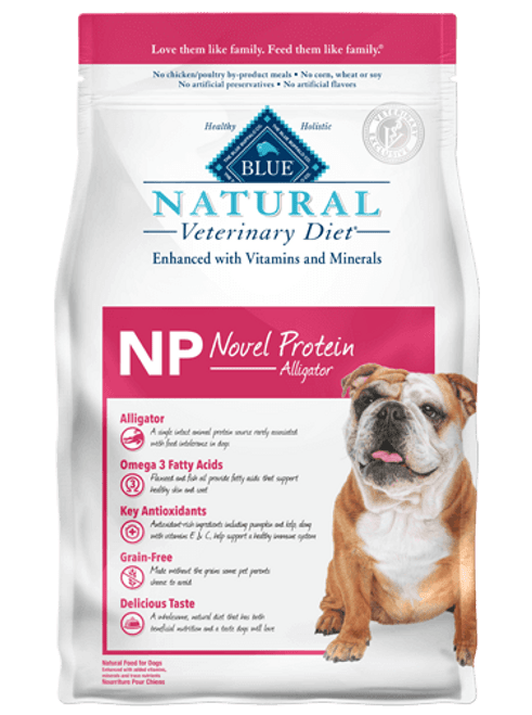 Blue Natural Veterinary Diet Canine NP Novel Protein Alligator - 22lb