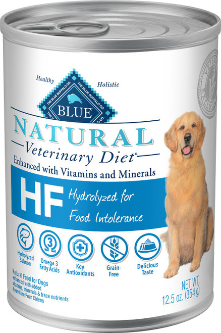 Blue Natural Veterinary Diet HF Hydrolyzed for Food Intolerance Canned Dog Food - 12/12.5oz